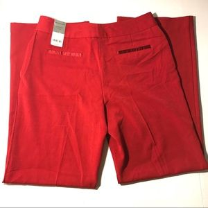 NWT Worthington modern fit red slacks size 8